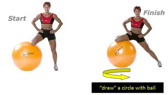 circle inner thigh ball exercise